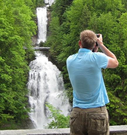 Giessbach Falls and Hotel Giessbach…