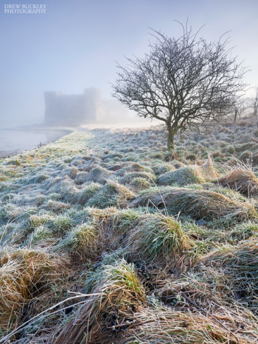 Carew Castle frosty morning