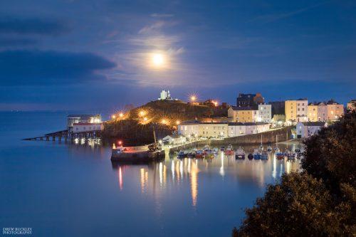 Tenby Harbour Moonrise