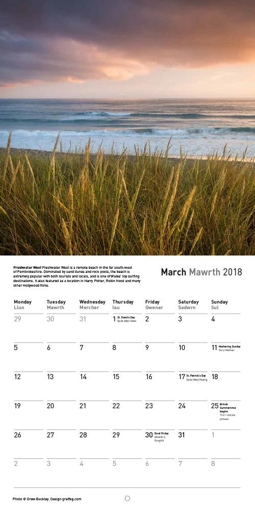 Drew Buckley 2018 Pembrokeshire Calendar